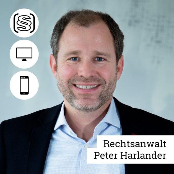 Webinar Rechtsanwalt Peter Harlander